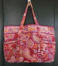 Vera Bradley RASPBERRY FIZZ XL Jumbo Tote Duffle Travel Bag Shopper Pls Read