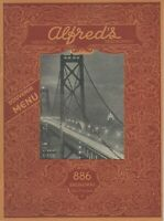 Vintage 1950s ALFRED'S RESTAURANT Souvenir Menu, San Francisco, CA