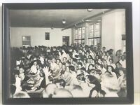 Vintage Photo High School Assembly Cafeteria 1950's Early 1960's Framed