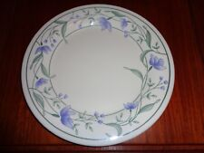 Pretty Dinner Plate Maker Unknown Blue Flowers And Green Leaves