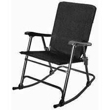 Elite Folding Rocking Chair Outdoor Lawn & Garden Patio Deck Rocker - Black!