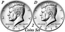 2018 Kennedy Half Dollars 2 coins set P + D Clad President 50¢ coin US Mint