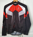 Red & Black Cycling Jacket Long Sleeve Bike ARSUXEO M Medium