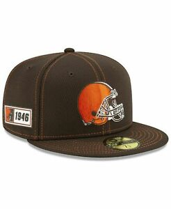 Cleveland Browns 7 1/8 NEW ERA 2019 NFL Sideline 1946 On Field 59Fifty Hat - NEW