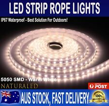 5m IP67 Waterproof 5050 LED Strip Rope Lights Warm White 12V 300 LEDs