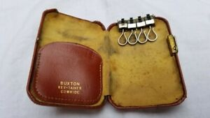 BUXTON Key-Tainer Key Tainer VINTAGE KEY HOLDER Leather Cowhide