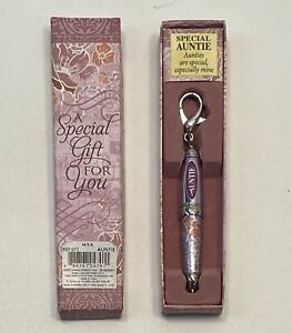 SPECIAL AUNTIE MINI POCKET KEYRING PEN WITH GIFT BOX THOUGHTFUL CHRISTMAS GIFT