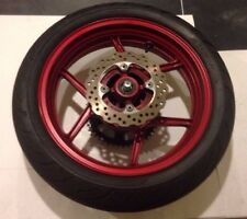 06 07 08  Burgundy Kawasaki Ninja 650R EX650 Rear Wheel Back Rim W/ TIRE Rotor