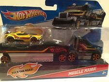 Hot Wheels 2011 Semi-Truck with Trailer, Hot Wheels Muscle Mania, HW Car NEW