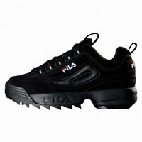 2019 New Original FILA Men Disruptor II 2 Shoes Sneakers- Black(FS1HTB1078X)