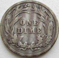 1896 Barber Silver Dime in a SAFLIP® - VG- (Good+)