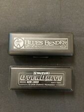 2 Diatonic Harmonica Suzuki Overdrive MR-300 M.Hohner Blues Bender Key of G & C