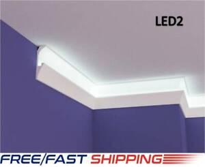 XPS Polystyrene LED Indirect Lighting Up lighter Lightweight Coving Cornice LED2