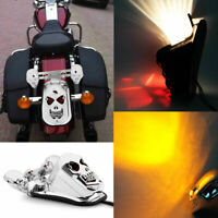 Motorcycle Skull Turn Signal Rear Brake Tail Light For Harley Bobber Honda