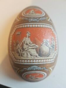 Decorated Metal Egg Tin