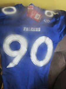BLUE AND WWHITTE FOOTBALL JERSEY SAMPLE NEW #90