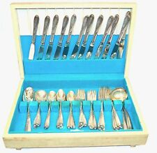 Reed & Barton 60 Pieces Sterling Silver Flatware Silver Wheat Pattern 1952