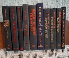 lot 10 old books BLACK red blue decorative display set library shelf decor