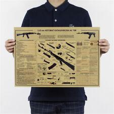 die ak74 gun poster vintage kraftpapier poster wandaufkleber sammlung bar Hot DE