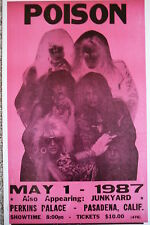 Poison playing in Pasadena, California Concert Poster