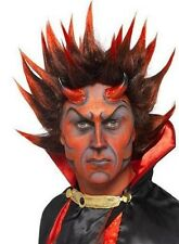 Mens Halloween Fancy Dress Punky Devil Wig Spikey Red/Black by Smiffys