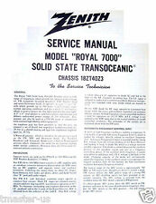 Zenith Radio Transoceanic shortwave service manual Royal 7000