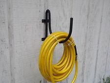 wrought iron look heavy duty metal wall mounted garden hose holder