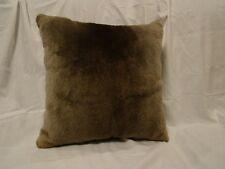 Genuine Close Sheared Beaver Fur Pillow