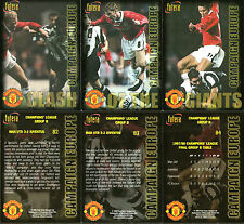 FUTERA 1998 MANCHESTER UNITED CLASH OF THE GIANTS 3 CARDS NUMBERED 82 / 84