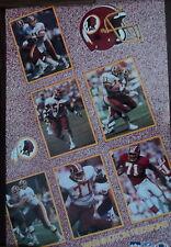 VINTAGE POSTER~Washington Redskins Collage 1990 Starline Mark Rypien Mann Riggs~