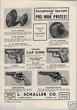 1947 PAPER AD Stevens Cap Gun Guns Toy L Schaller Co Spit Fire Bang O Pacemaker