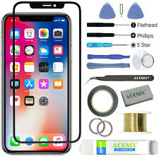 ebuyerfix® For iPhone XS Replacement Front Outer Touch Screen Glass Lens Kit