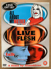 All About My Mother Live Flesh Talk To Her Almodovar Spanish Film 3-Disc Box Set