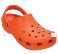 Classic Crocs Men's Alligator Slip On Casual Clogs, Orange, Size 11