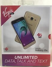 NEW Virgin Mobile - Samsung Galaxy J3 Prepaid Cell Phone - Gold