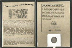 Panama Silver Coin 1904 - A Man, A Plan, A Canal COA & History & Album Included