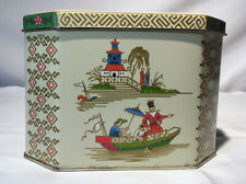 Vintage Daher  Chinese Family Tin Container with Hinged Lid - Made England