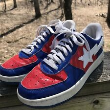 2005 Bape Marvel Comics Captain America Mens Sneakers Shoes Red White Blue 8US