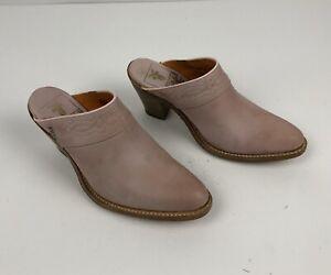 Frye Women's Dusty Rose Mules Round Toe Light pastel Pink Size 5.5 M
