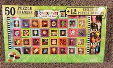 Crazerasers 50 Collectible Puzzle Erasers + 12 Exclusive puzzle erasers
