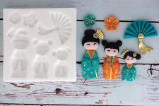 Stampo in silicone Oriental bambole, cinese, geisha, giapponese, VENTOLA M111