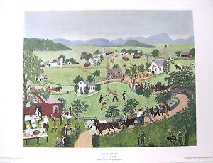 Grandma Moses July Fourth  1951 Art Print Free Shipping