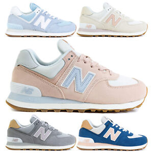 New Balance NB 574 Women's Casual Sneakers Girls Lifestyle Shoes Leather Suede