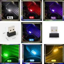 1× Mini USB LED Car Interior Light Neon Atmosphere Ambient Lamp Bulb Accessories