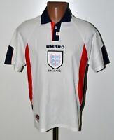 ENGLAND NATIONAL TEAM 1997/1998/1999 HOME FOOTBALL SHIRT UMBRO SIZE M ADULT