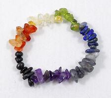 7 Chakra Healing Balance Freeform Chip Bead Bracelet Yoga Reiki Prayer Stone