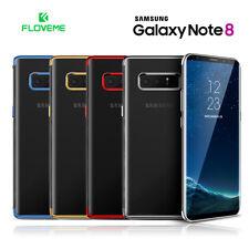 Funda Samsung Galaxy Note 8 silicona transparente FLOVEME bordes metalizados