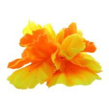 Fleur Plante Artificiel Orange en Plastique Deco pour Aquarium Poisson G8Z4