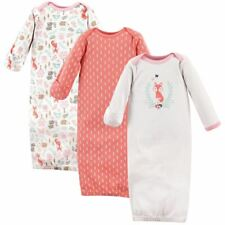 Hudson Baby Girl Sleep Gowns, 3-Pack, Woodland Fox