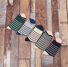 NEW 5 Pairs FASHION Mens Socks Lot Cotton Knit Warm Striped Casual Dress Socks